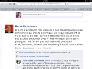 Hervé Damoiseau s'excuse