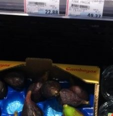 "Hyper U Rond-Point Martinique : 49,47 € le kilo de figues ""fraîches"""