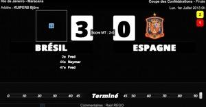 Le Brésil corrige l'Espagne