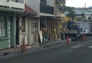 Ça y est...c'est parti...les maires font le trottoir en #Martinique