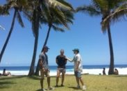 #Lagaet Alin and Co en mode Beach-Demo à l'île de la #Réunion