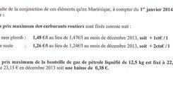 Prix des carburants en janvier 2014 #Martinique ...lol