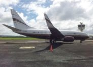 L'avion de Steven #Spielberg en escale en #Martinique