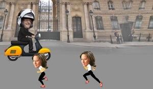 Jeu du Scooter : Aidez François #Hollande à rejoindre Julie !
