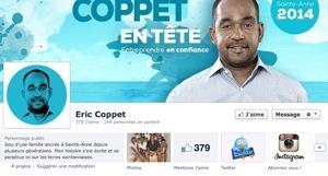 #Municipales 2014 en #Martinique : Éric #Coppet fait de la pub sur #Facebook