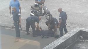 #Martinique : un motard fonce sur un policier et le renverse