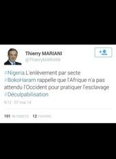 Thierry #Mariani est con ? Non il est à l'#UMP