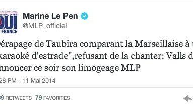 Christiane #Taubira et la #Marseillaise...le jour de gloire est à rivets