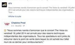 Concert The #VOICE en #Martinique...une annulation qui laisse sans VOIX