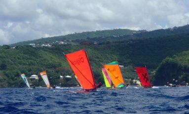 #BrasserieLorraine remporte la première étape du Tour de la #Martinique des yoles rondes.