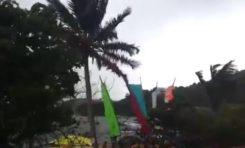 #TDY2014...#Bertha arrive...le Tour de la #Martinique des yoles rondes met les voiles