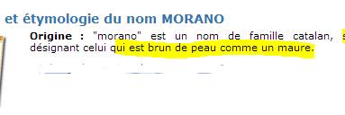 """Connaissez-vous l'étymologie du nom """"#Morano"""" ?"""
