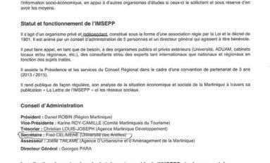 Fred #Celimène ex - Directeur du #CEREGMIA désigné au Conseil d'Administration de l'IMSEPP en #Martinique