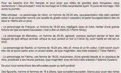 """""""Recherche pour le rôle de Mamadou un homme de 25-30, agressif, comique, sachant danser et faire des blagues..."""""""