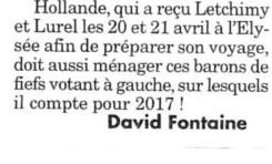 Mon cher François...respecte le françois que je suis