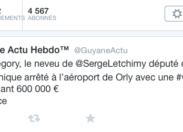 Guyane Actu révèle sur Twitter le nom du neveu de l'élu de Martinique