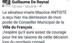 Deux démissions en une semaine au conseil municipal du François en Martinique