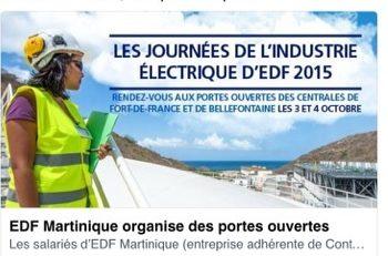 EDF Martinique : vous ne pourrez pas dire que vous n'étiez pas au ...courant