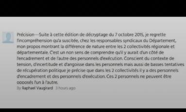 Le rétropédalage choucroutien de Raphaël Vaugirard