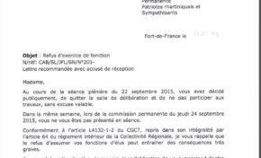 LA DEMOCRATIE EST EN DANGER EN MARTINIQUE !   L'ACTUEL PRESIDENT DE REGION MENACE L'OPPOSITION