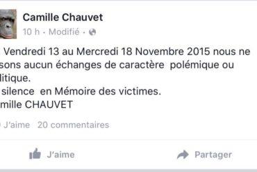 Attentats de Paris : le silence bavard et hypocrite de Camille Chauvet