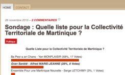 CTM : toujours pas de sondage en Martinique...bizarre ...autant qu'étrange