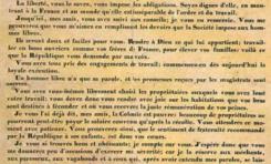 20 décembre 1848...Les futurs ex esclaves écoutent religieusement ce texte odieux de Sarda Garriga