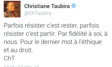 Le tweet du jour  [27/01/16] Taubira