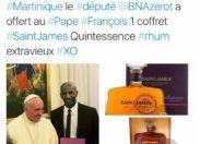 Nestor Bruno Azérot offre du rhum au Pape...Sainte -Marie maire de Dieu priez pour nous