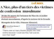 Nice : un tiers des victimes sont des musulmans...
