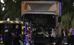 Le camion fou, criblé de balles. (Photo)