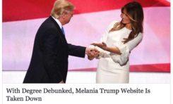 Melania Trump a même pipeauté son diplôme (lol)