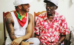 Lewis Hamilton et son grand-père (Grenade)