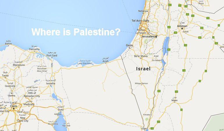 Google Maps supprime la Palestine de la carte…