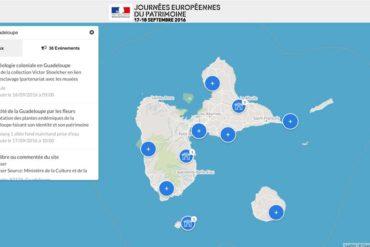 Journées Européennes du Patrimoine : Guadeloupe. (carte)