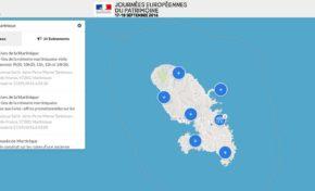 Journées Européennes du Patrimoine : Martinique. (Carte)