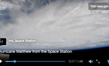 Matthew vu de l'espace (vidéos)