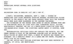 1987 : 18 OVNI au-dessus de la Martinique, Barbade, Grenade...