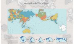 La vraie carte du monde primée au Japon