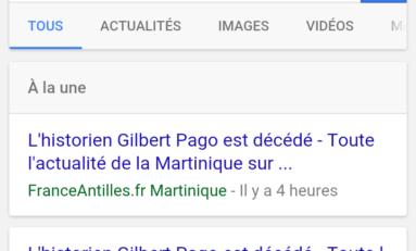Ils ne parlent pas du député  Nilor qui baise dans un ascenseur de l'AN mais ils annoncent la mort de Gilbert Pago