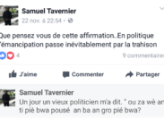 La question de Samuel...