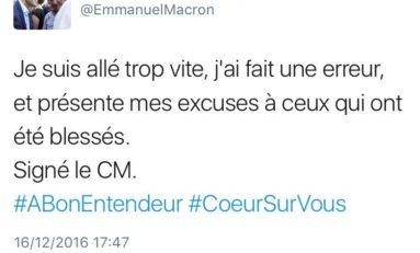 Macron...cette envie de voler noue l'avion