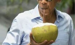 Barack Obama like a Coconut Dundee