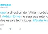 Le tweet du jour 17/02/17 Atrium Drive - Martinique