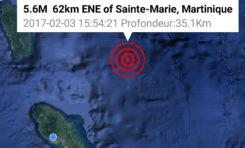 15:54 la terre a tremblé en Martinique