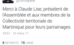 Présidentielle 2017 : Claude Lise parraine Rama Yade