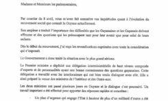 La Lettre de François Hollande aux parlementaires de Guyane