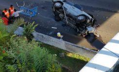 Spectaculaire accident de la route à Fort-de-France en Martinique