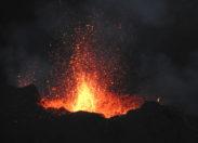 Eruption du volcan Piton de la Fournaise à l'île de La Réunion - 17 JUILLET 2017