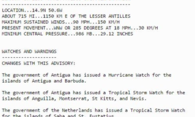 José ouragan majeur